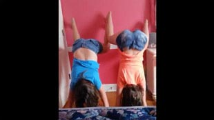 Wall twerking by teens